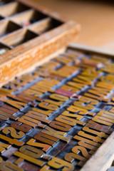 Vintage printing type