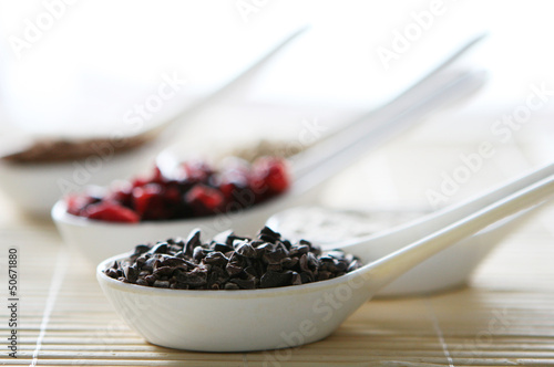 A close up photo of natural chocolate for baking