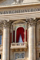 Petersdom Papst Balkon - St. Peter's Basilica Popes Balcony