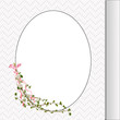 floral branch on oval frame
