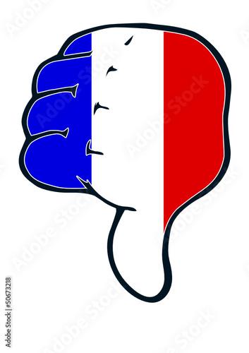 Daumen runter Frankreich