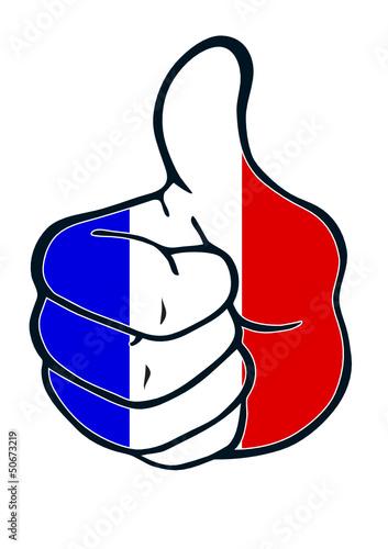 Daumen hoch für Frankreich