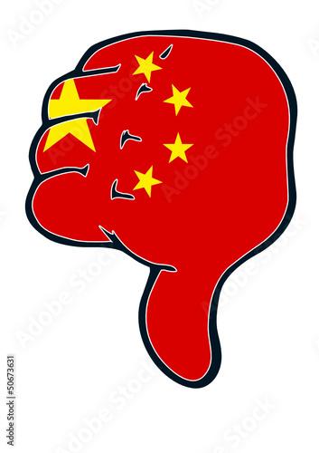 Daumen runter China