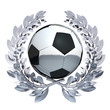 Football in silver laurel wreath