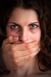 Woman Silenced by Aggressive Husband