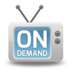 "Cartoon-style TV Icon with ""On Demand"" wording on screen"