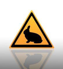 Annimal warning sign