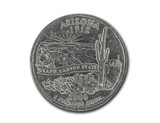United States Arizona quarter dollar coin on white