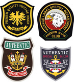 classic royal emblem badge set
