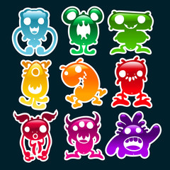Colorful Glossy Monsters