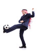 Arab businessman with football