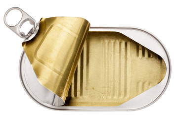 empty open tin can