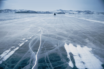 Winter ice road