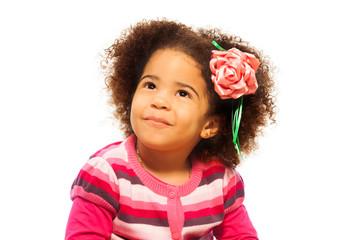 Cute little black girl