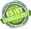 """Button Banner """"Es ist Spargelzeit"""" grün/silber"""