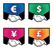 Currency signs, vector illustration