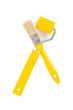 yellow paintbrush and paintroller