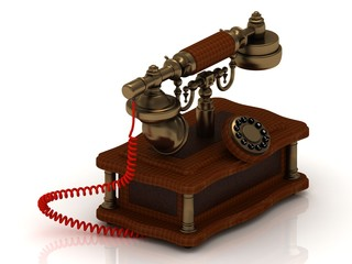 Old decorative telephone