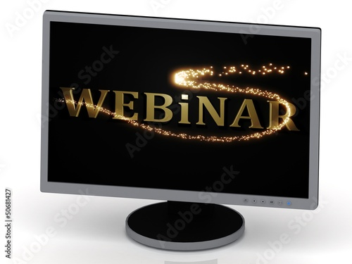 Webinar with 3D glowing trail lights
