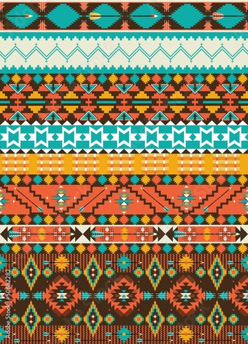 Sticker Seamless navajo geometric pattern