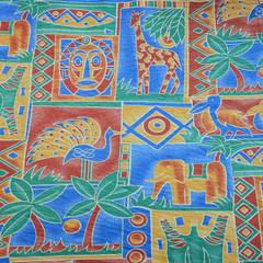 Tissu africain coloré
