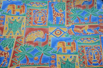 Tissu africain multicolores