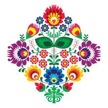 Haft ludowy z kwiatami - tradycyjny polski wzór