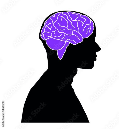 Brain Illustration Man