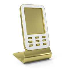 """Mobile Phone"" Golden Icon"