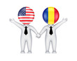 US-Romanian cooperation concept.
