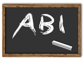 Tafel mit Schrift Abi