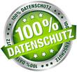 """Button Banner """"100 % Datenschutz"""" grün/silber"""