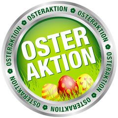 Button Osteraktion Ostereier grün/silber