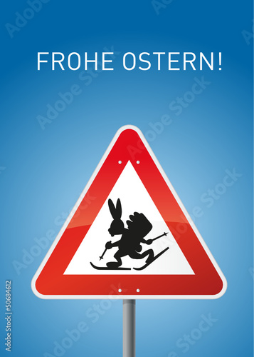 Osterskihase Schild