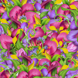 abstract exotic tropical flower background
