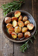 Oven-baked potatoes with sea salt and rosemary