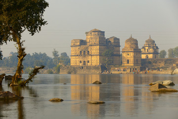old temples near the river