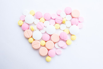 Drugs that are arranged in a heart shape