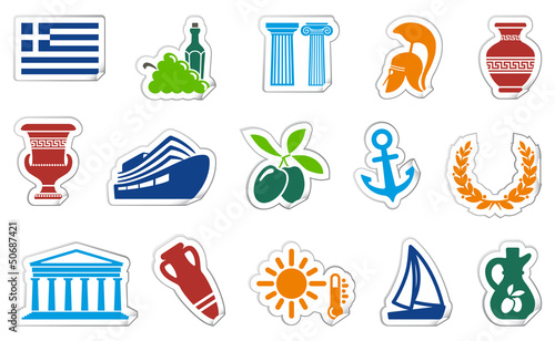 Greece stickers