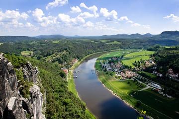 Elbe Dresden Bastei