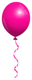 Single Pink Balloon