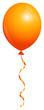 Single Orange Balloon
