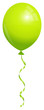 Single Green Balloon