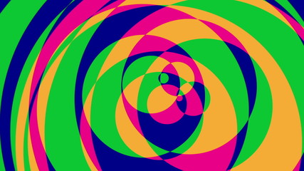 Psychedelic Circles 2 - Colorful Graphical Video Background Loop