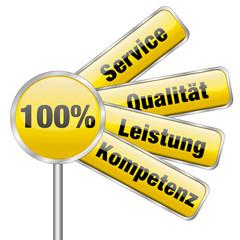 100 % Service, Qualität, Leistung, Kompetenz