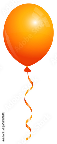 Single Orange Balloon