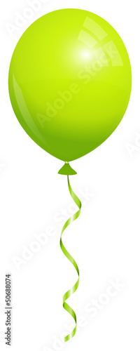 Single Green Balloon