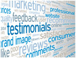 TESTIMONIALS Tag Cloud (satisfaction survey comments button)