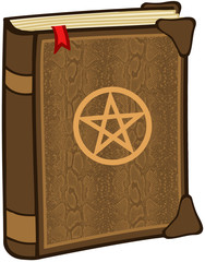 Magic Book With Pentagram