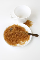 brown sugar in a bowl with a spoon